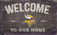 """Minnesota Vikings 11"""" x 19"""" Welcome to Our Home Sign"""