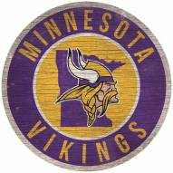 """Minnesota Vikings 12"""" Circle with State Sign"""