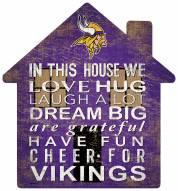 "Minnesota Vikings 12"" House Sign"