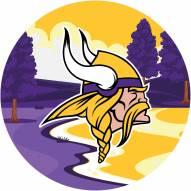 "Minnesota Vikings 12"" Landscape Circle Sign"