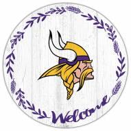 "Minnesota Vikings 12"" Welcome Circle Sign"