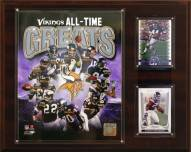 """Minnesota Vikings 12"""" x 15"""" All-Time Great Plaque"""