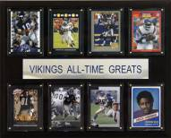 "Minnesota Vikings 12"" x 15"" All-Time Greats Plaque"