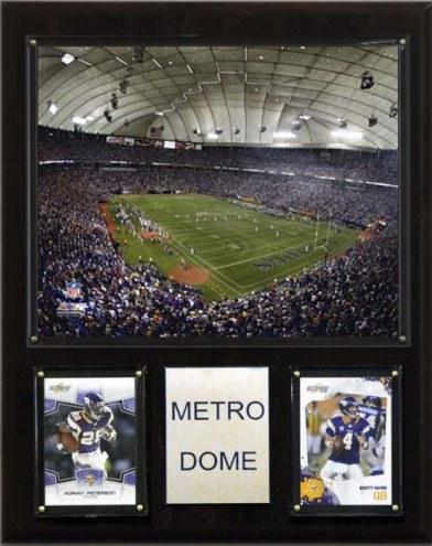 "Minnesota Vikings 12"" x 15"" Stadium Plaque"