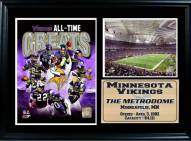 "Minnesota Vikings 12"" x 18"" Greats Photo Stat Frame"