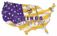 "Minnesota Vikings 15"" USA Flag Cutout Sign"