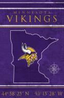 "Minnesota Vikings 17"" x 26"" Coordinates Sign"