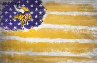 "Minnesota Vikings 17"" x 26"" Flag Sign"