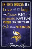 """Minnesota Vikings 17"""" x 26"""" In This House Sign"""