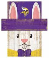 "Minnesota Vikings 19"" x 16"" Easter Bunny Head"