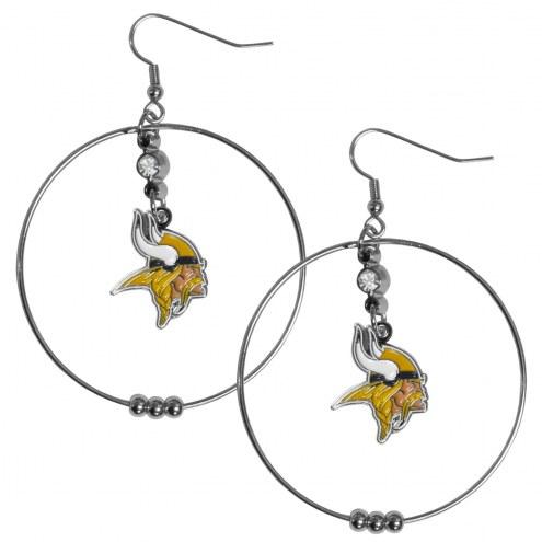 """Minnesota Vikings 2"""" Hoop Earrings"""