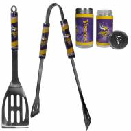 Minnesota Vikings 2 Piece BBQ Set with Tailgate Salt & Pepper Shakers