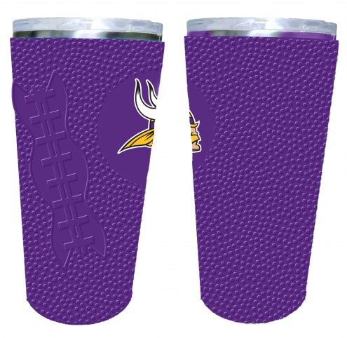 Minnesota Vikings 20 oz. Stainless Steel Tumbler with Silicone Wrap