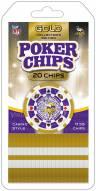 Minnesota Vikings 20 Piece Poker Chips Set