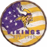 "Minnesota Vikings 24"" Flag Barrel Top"