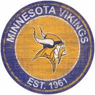 "Minnesota Vikings 24"" Heritage Logo Round Sign"