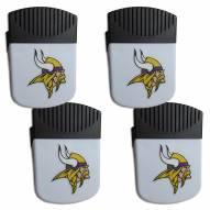 Minnesota Vikings 4 Pack Chip Clip Magnet with Bottle Opener