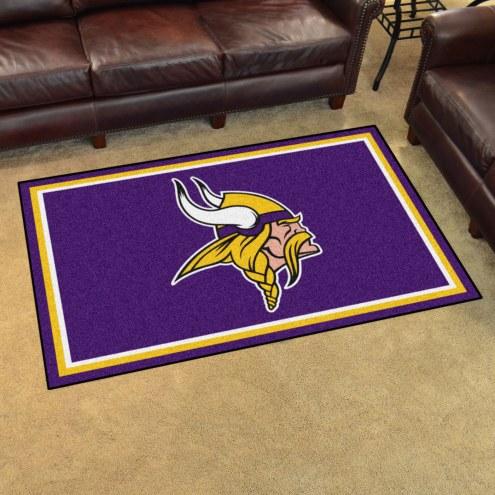 Minnesota Vikings 4' x 6' Area Rug