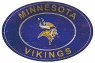 """Minnesota Vikings 46"""" Heritage Logo Oval Sign"""
