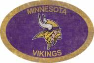 """Minnesota Vikings 46"""" Team Color Oval Sign"""