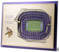 Minnesota Vikings 5-Layer StadiumViews 3D Wall Art