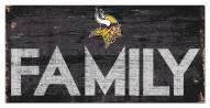 "Minnesota Vikings 6"" x 12"" Family Sign"