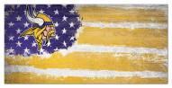 "Minnesota Vikings 6"" x 12"" Flag Sign"