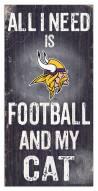 "Minnesota Vikings 6"" x 12"" Football & My Cat Sign"