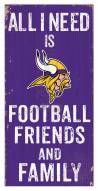 "Minnesota Vikings 6"" x 12"" Friends & Family Sign"