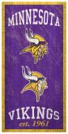 """Minnesota Vikings 6"""" x 12"""" Heritage Sign"""