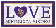 "Minnesota Vikings 6"" x 12"" Love Sign"