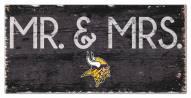 "Minnesota Vikings 6"" x 12"" Mr. & Mrs. Sign"