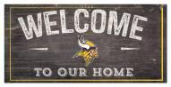"Minnesota Vikings 6"" x 12"" Welcome Sign"
