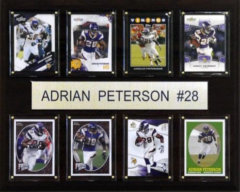 "Minnesota Vikings Adrian Peterson 12"" x 15"" Card Plaque"