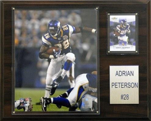 "Minnesota Vikings Adrian Peterson 12 x 15"" Player Plaque"
