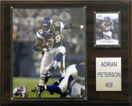 "Minnesota Vikings Adrian Peterson 12 x 15"" Player Plaque"
