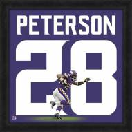 Minnesota Vikings Adrian Peterson Uniframe Framed Jersey Photo
