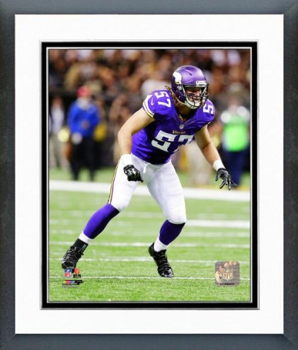 Minnesota Vikings Audie Cole Action Framed Photo