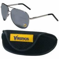 Minnesota Vikings Aviator Sunglasses and Sports Case