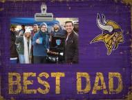 Minnesota Vikings Best Dad Clip Frame