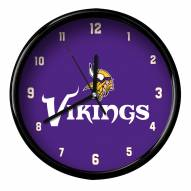 Minnesota Vikings Black Rim Clock