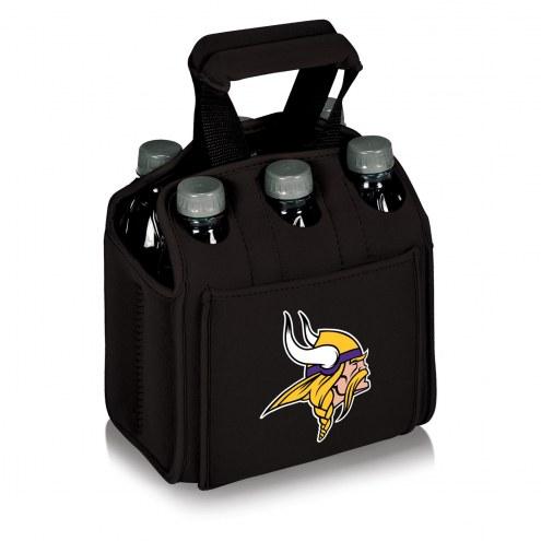 Minnesota Vikings Black Six Pack Cooler Tote