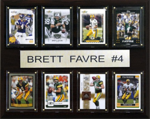 "Minnesota Vikings Brett Favre 12"" x 15"" Card Plaque"