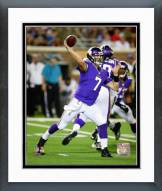 Minnesota Vikings Christian Ponder Action Framed Photo