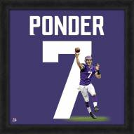 Minnesota Vikings Christian Ponder Uniframe Framed Jersey Photo