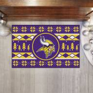 Minnesota Vikings Christmas Sweater Starter Rug