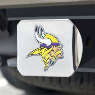 Minnesota Vikings Chrome Color Hitch Cover