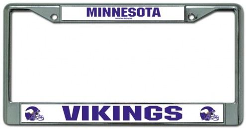 Minnesota Vikings Chrome License Plate Frame