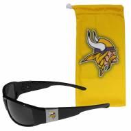 Minnesota Vikings Chrome Wrap Sunglasses & Bag