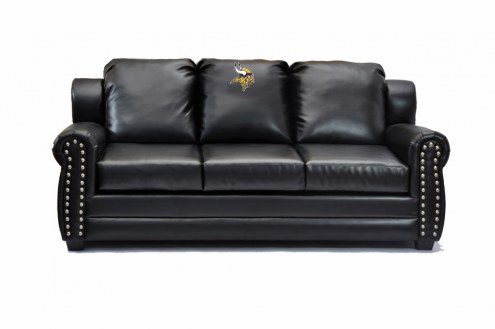 Minnesota Vikings Coach Leather Sofa